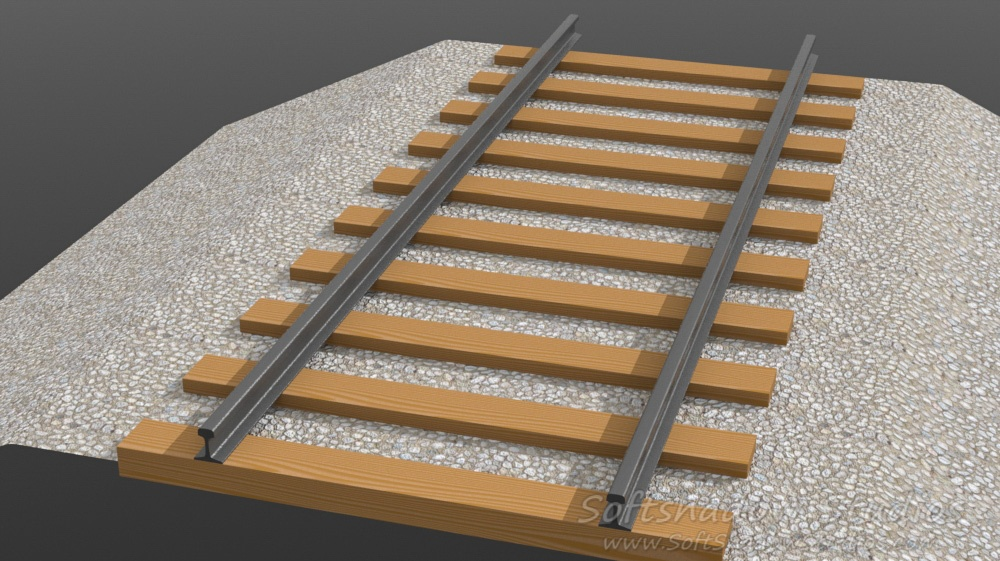 Track model fully textured, WIP
