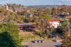 Castlemaine station and skyline
